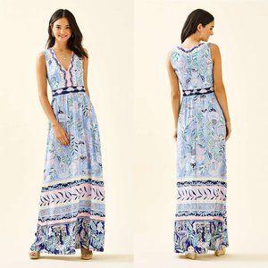 Lilly Pulitzer Blue Peri McKinley Maxi Dress 4